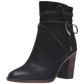 Franco Sarto Womens Edaline Leather Closed Toe Ankle Fashion Boots
