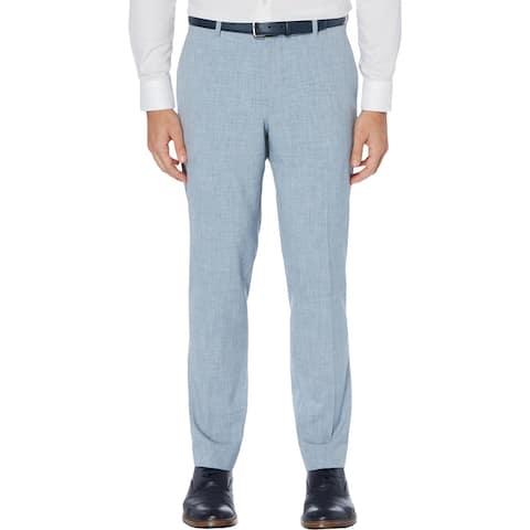 Perry Ellis Portfolio Mens Dress Pants Slim Fit Office - Bay Blue