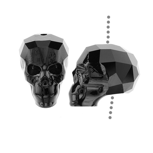 Swarovski Elements Crystal, 5750 Skull Bead 19mm 1 Piece, Jet
