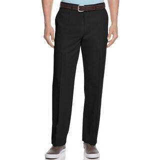 Tommy Bahama Flying Fishbone Flat Front Pants Black Solid 34 x 30