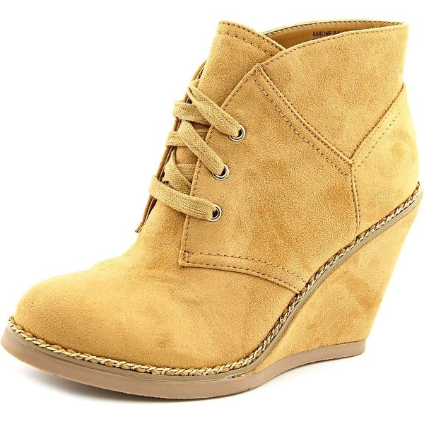 Zigi Soho Karline Women Round Toe Synthetic Tan Ankle Boot