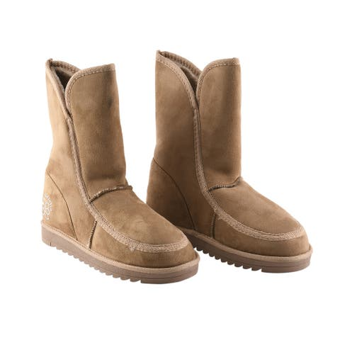 Womens Anti Slip in Sand Comfortable Winter Fluffy Boots -Size 40 - 9.5-10