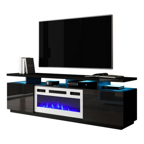 Eva-KWH Modern 71-inch Electric Fireplace TV Stand