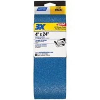 "Norton 07660749275 3X High Performance Sanding Belt 4""x24"", 100Grit"