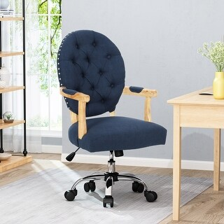 Link to Avens Contemporary Tufted Fabric Swivel Office Lift Chair by Christopher Knight Home Similar Items in Home Office Furniture