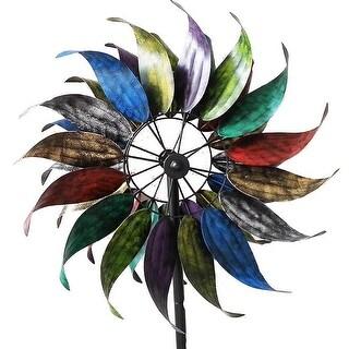"84"" Rainbow Windmill Garden Stake"