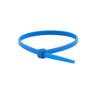 Monoprice 4-inch Cable Tie, 100pcs/Pack, 18 lbs Max Weight - Blue