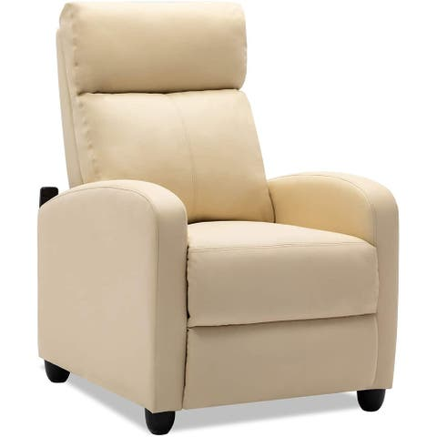 PU Leather/Fabric Single Modern Sofa Home Theater Seating Massage Recliner