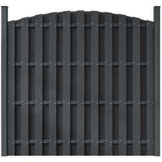 vidaXL WPC Fence Panel Round Gray