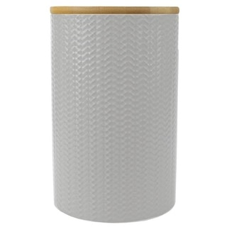Link to Wave Large Ceramic Canister, White Similar Items in Kitchen Storage