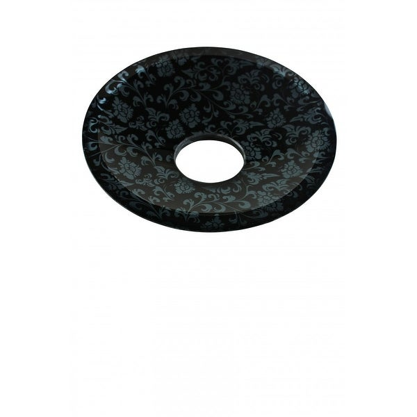 Replacement Waterfall Faucet Glass Disc Plate Silver Flower | Renovator's Supply