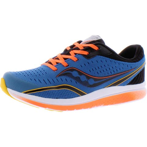 Saucony Boys Kinvara Running Shoes Cushioned Footbed Lace-Up - Seaport