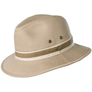 Stetson Garment Washed Twill Safari Hat - Khaki