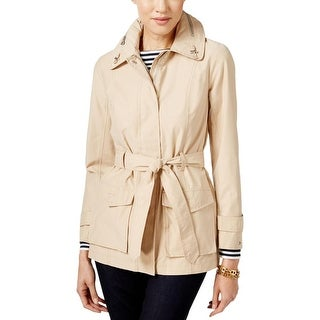 Tommy Hilfiger Womens Trench Coat Hooded Long Sleeve - XL