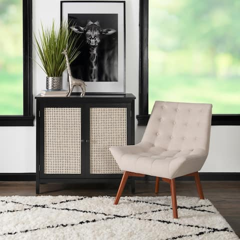 Athena Accent Chair Tufted Linen