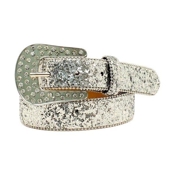 Shop Ariat Western Belt Girl Leather Rhinestone Studs Chips Silver - Free  Shipping On Orders Over  45 - Overstock - 20101429 7a36d5d5ecd5