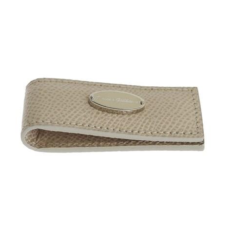 Dolce & Gabbana Dolce & Gabbana Beige Leather Magnet Money Clip - One size