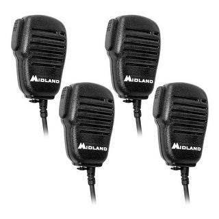 Midland AVPH10 Shoulder Speaker Mic with Dual Pin Connector -4 Pack