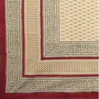 Handmade 100% Cotton Bagru Block Print Cotton Tablecloth Rectangle Square Round Napkin