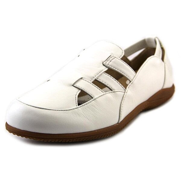 Softwalk Hampton Women N/S Apron Toe Leather White Loafer