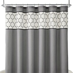 Royal Velvet Kaler Fabric Shower Curtain Grey One Size
