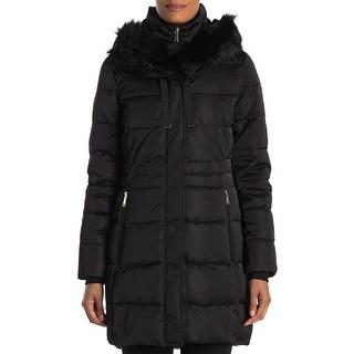 Link to T Tahari Women's Stefani Fitted Puffer Coat, Black Similar Items in Women's Outerwear
