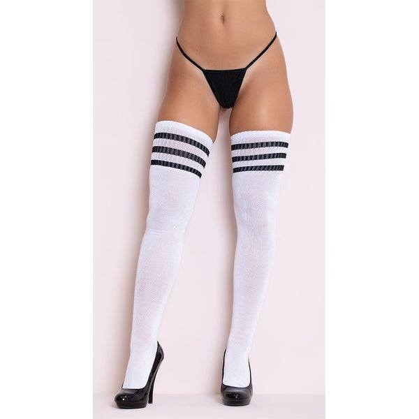 Lingerie Hosiery Black sheer thigh high Stockings one size fits more