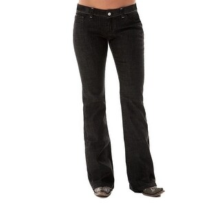 Cowgirl Tuff Western Denim Jeans Womens Blackout Barbed Black