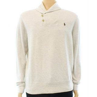 Polo Ralph Lauren NEW Beige Ribbed-Shawl Mens Size 2XL Polo Sweater