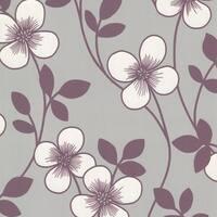 Brewster 2533-20227 Freud Purple Blossom Trail Wallpaper