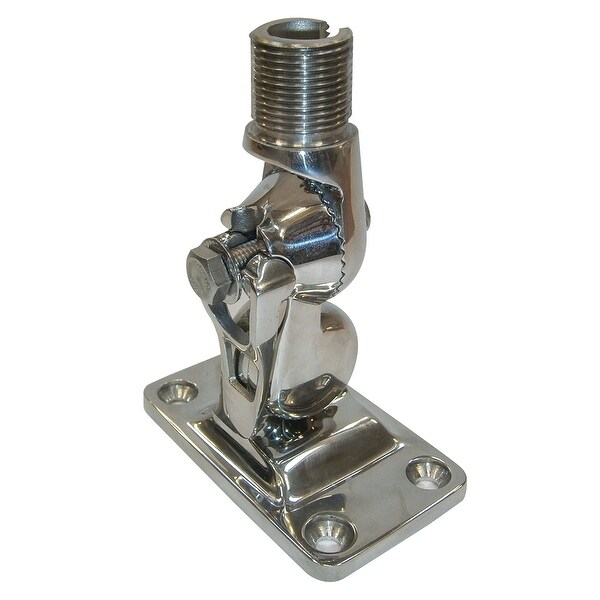 Glomex 4-Way Stainless Steel Ratchet Mount w/Locking Clip - Glomeasy