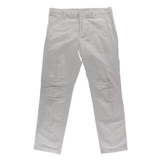 Calvin Klein Mens Dress Pants Linen Signature - 34/32