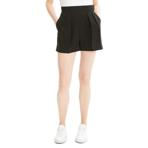 Theory Womens Shorts Pleated Crepe - Black