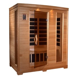 GDI Grand 3-person Far Infrared Carbon Hemlock Wood Sauna