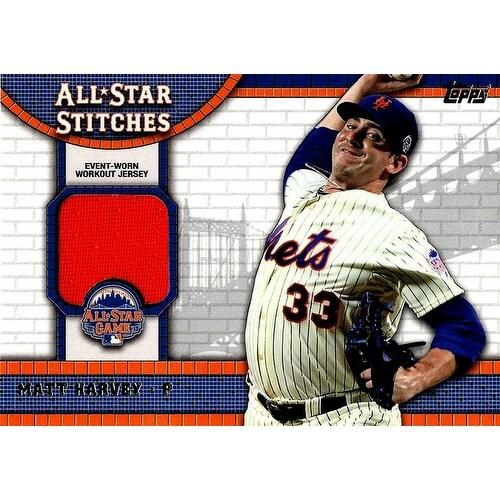 purchase cheap 92591 b4016 Signed Harvey Matt New York Mets Matt Harvey 2013 Topps MLB AllStar  Stitches Unsigned Baseball Jers