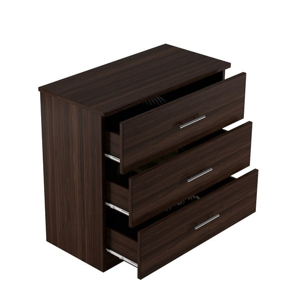 Milford Solid Wood Walnut 3 Drawer Chest On Sale Overstock 31323797