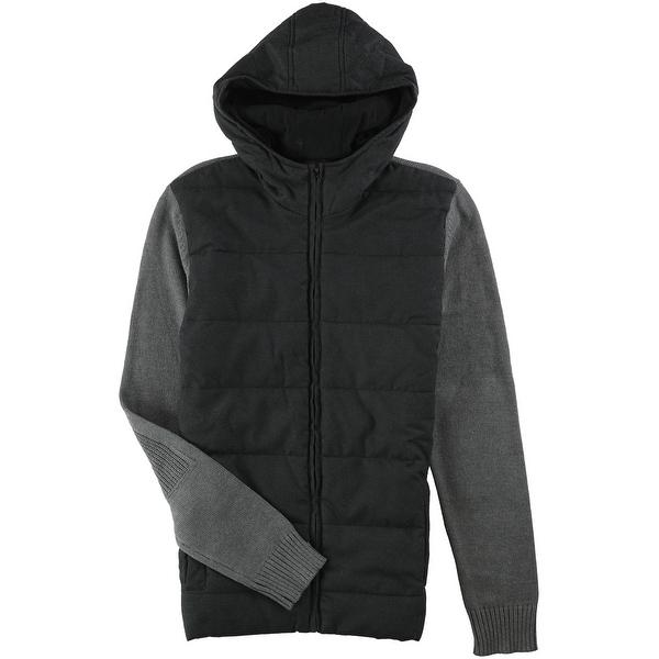 Alfani Mens Quilted Hoodie Sweatshirt