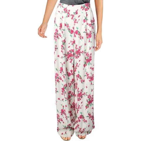 Rachel Zoe Womens Steph Wide Leg Pants Floral High Waist - Multi