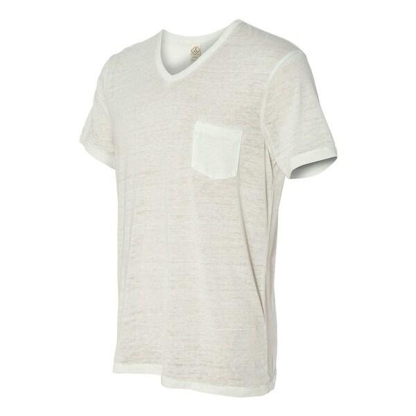19 Seventies Jersey Burnout Leo V-Neck T-Shirt