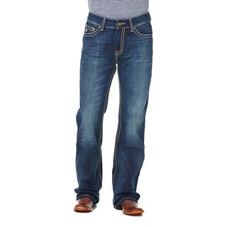 Cowboy Up Denim Jeans Mens Relaxed Fit Dark Stonewash CBJ30602