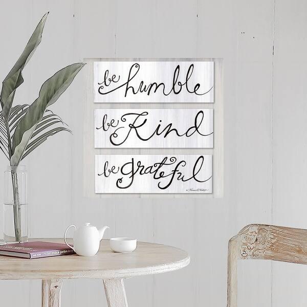 Be Humble Kind Grateful