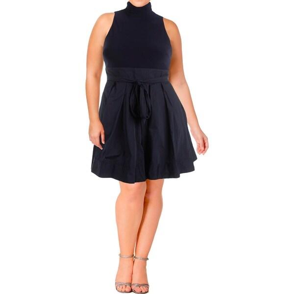 Shop Lauren Ralph Lauren Womens Petites Semi Formal Dress Taffeta