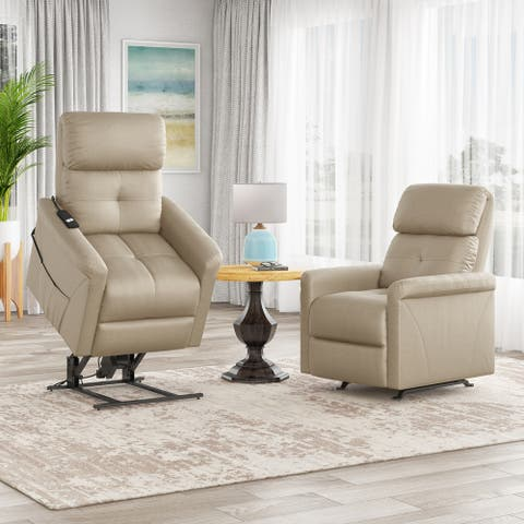 Copper Grove Rocker and Power Lift Recliner Chairs (Set of 2)