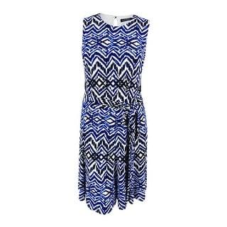 Lauren Ralph Lauren Women's Belted Printed Dress
