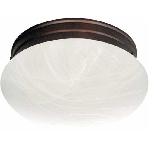 "Volume Lighting V7786 1 Light 7"" Flush Mount Ceiling Fixture with White Alabaste"
