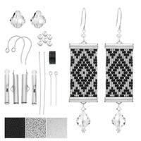 Refill - Loom Statement Earrings in Helsinki - Exclusive Beadaholique Jewelry Kit