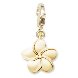 Julieta Jewelry Plumeria Flower Clip-On Charm