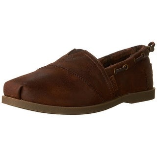 BOBS from Skechers Women's Chill Luxe Shoe, Brown