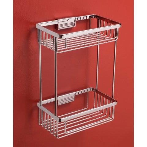 "Bissonnet 642310 City 9-15/16"" Double Tier Shower Basket - CHROME - N/A"
