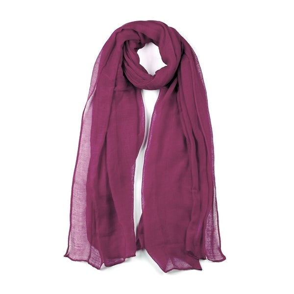 1739a55049c02 Shop Long Warm Shawl Large Soft Solid Color Scarf for Women Men Dark Purple-2  - Free Shipping On Orders Over $45 - Overstock - 26853720